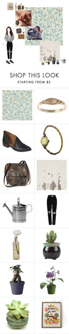 """""""i think that man just asked me to marry him"""" by kquin58 ❤ liked on Polyvore featuring William Morris, Free People, Elgin, River Island, Cultural Intrigue, Muuto and WALL"""