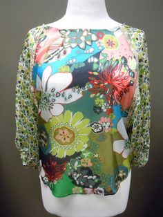 Uncle Frank Mixed Print Silk Top. SO CUTE!! $103.50 ON SALE!!!