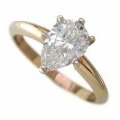 .42ct Pear Shape Diamond Solitaire I Color SI2 Clarity. Appraisal Included Gold and Diamond Source. $1390.00
