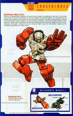 Transformer of the Day: Crossblades (Part Transformers Drawing, Transformers Characters, Transformers Movie, Gi Joe, Gundam, Transformers Generation 1, Transformers Decepticons, Classic Cartoons, Anime