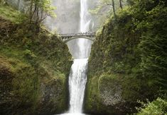Multnomah Falls Bridal Veil, Oregon Pull off I-84 about 30 miles east of Portland and youll find yourself a five-minute walk from one of the tallest (at 611 feet), most dramatic falls in the country.