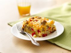 My mom makes an AMAZING breakfast casserole...but my hubby has celiac and can't eat it....now he CAN!!!!!!