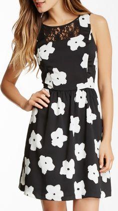 Kensie Sleeveless Floral Dress