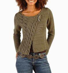 Knitting sweaters for women crochet cardigan Super Ideas Cardigan Pattern, Sweater Knitting Patterns, Crochet Cardigan, Knitting Designs, Knit Patterns, Free Knitting, Knitting Sweaters, Knit Cowl, Pull Crochet