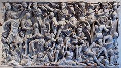 roman art battle sculpture