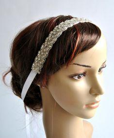 Gorgeous 1920s Flapper headband Rhinestone Headband cadb1311888a