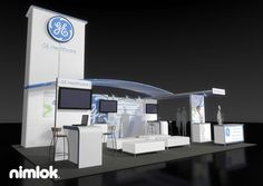 Nimlok builds and designs trade show booths and custom healthcare exhibits. For GE we created a large-scale custom display solution to showcase their brand.