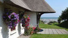 Better than Cornwall and Croatia, a picturesque Irish holiday cottage on the Co. Meath coast has won the title of Best Beach Holiday Home in Europe. Cottages By The Sea, Beach Cottages, Irish Beach, Cottage Names, Ireland Holiday, Luxury Holiday Cottages, Luxury Cottages, Thatched House, Irish Cottage