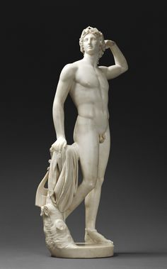 Antonio Canova (Italian, 1757 - 1822). Apollo Crowning Himself, 1781 - 1782, Marble. The J. Paul Getty Museum, Los Angeles.