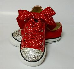 Custom Converse with Swarovski Crystals Size 7 Toddler Sneakers SALE Sparkly Converse, Red Converse, Custom Converse, Converse Sneakers, Custom Shoes, Baby Converse, Little Girl Shoes, Baby Girl Shoes, Kid Shoes