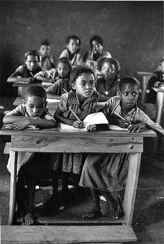 photograph by Arthur Leipzig African Life, African American History, Vintage Black Glamour, Vintage School, Vintage Kids, Robert Doisneau, School Pictures, My Black Is Beautiful, Old Photos