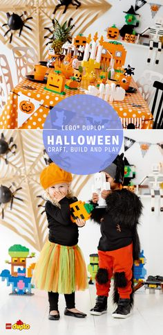 Planning for a Halloween party? We've got all sorts of spooky ideas to keep your toddlers entertained! http://www.lego.com/da-dk/family/articles/brick-or-treat-spooky-lego-duplo-builds-for-halloween-015d659ab28b45ab88090f57d6e7de26