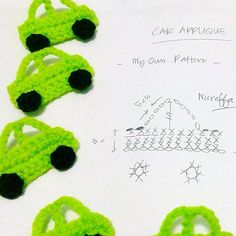 #crochet #crocheting #crochetaddict #car #appliqué #diagram