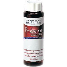 L'Oreal Permanent Haircolor. Red-Brown with a violet base.