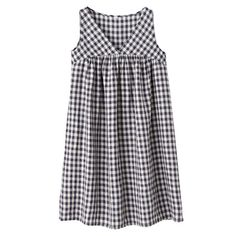 muji checked line jumper dress