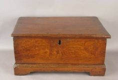 18th c Chippendale Chestnut Document Box
