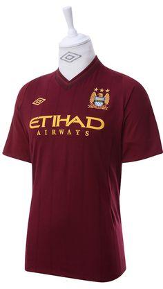 Umbro Manchester City 2012 Short Sleeved Away Shirt