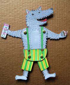 Paper-craft - wolf-motif