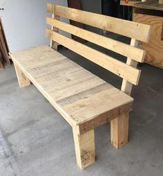 pallet outdoor furniture awesome Top Summer Wooden Pallet Furniture Crafts for Saturday Pallet Furniture Plans, Diy Pallet Sofa, Wooden Pallet Projects, Bench Furniture, Outdoor Furniture, Pallet Ideas, Backyard Furniture, Pallet Bench, Cheap Furniture