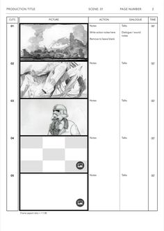 Anime Storyboard Template For Le Pages Ready To Use Five Widescreen Frames 1 85