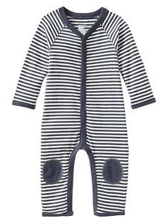 My boy::Knee-patch striped one-piece | Gap
