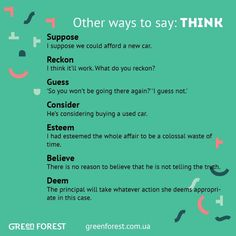 Other ways to say: Think