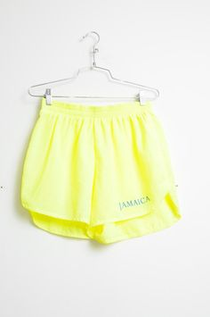 Awesome Vintage 80s/90s Neon Yellow Jamaica by LipstickDinosaur, $18.00