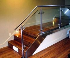 Stainless Steel Railing Designs Stand Off Glass Railing For Indoor Photos Stair Railings Modern Design Pic 16 - Stair Design Ideas Stainless Steel Railing, Stainless Steel Pipe, Balustrades, Glass Balustrade, Glass Stairs, Glass Railing, Glass Fence, Staircase Railings, Staircase Design