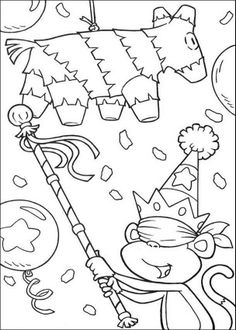 dora the explorer birthday coloring pages | ... pages related to Boots Birthday Cake Dora The Explorer Coloring Page