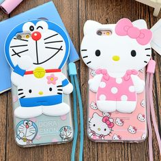 Cheap case for iphone, Buy Quality phone cases directly from China case for iphone 6 Suppliers: New Cute Cartoon Case for iPhone 6 Cool Hello Kitty w Strap Back PC+Soft TPU Phone Cases Cover Hello Kitty Merchandise, Tumblr Pattern, Doraemon Wallpapers, Cute Wallpapers Quotes, Iphone 6, Iphone Cases, Alphabet Wallpaper, Cute Girl Wallpaper, Cell Phone Covers