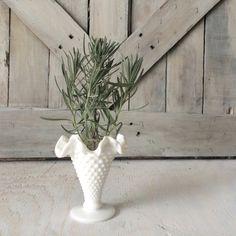 Vintage White Fenton Milk Glass VaseSmall by seedlingplantation, $6.00