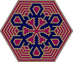 Beaded ankh patterns for a bracelet and a mandala type pendant which I designed for my best friend and want to share with all of you. - Ankh Bead Patterns - Beadwork at BellaOnline Peyote Patterns, Beading Patterns, Cross Stitch Patterns, Seed Bead Flowers, Beaded Banners, Native American Beadwork, Peyote Beading, Hexagon Quilt, Seed Beads