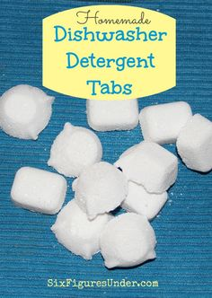 At $.05 per tab, making homemade dishwasher detergent tabs not only saves us money, but it saves us from the toxic chemicals in commercial dishwashing soaps.  I wonder how well these actually work.....