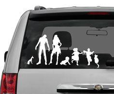 Zombie car window decals