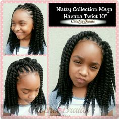 """Crochet Braids with Natty Collection Havana Twist 10"""". 5 packs used. Front…"""