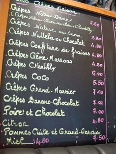 french cafe blackboards - Google Search