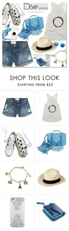 """""""The Final Cut: Denim Shorts"""" by mada-malureanu ❤ liked on Polyvore featuring Sandrine Rose, Yves Saint Laurent, Sam Edelman, Nanette Lepore, DUDU, jeanshorts, denimshorts, cutoffs and thestyledcollection"""