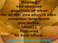 Take a few minutes to think about the process of writing.