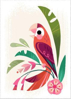 Printed with an Epson Sure Color printer on Epson Velvet Fine Art Paper. Each print is packaged in a clear bag with backing board and shipped to you in a stiff envelope. This dainty print measures Oh, and it is signed by me! Thanks for stopping by! Flamingo Art, Illustration Art, Illustrations, Bird Art, Watercolor Paintings, Abstract Paintings, Art Paintings, Painting Art, Landscape Paintings