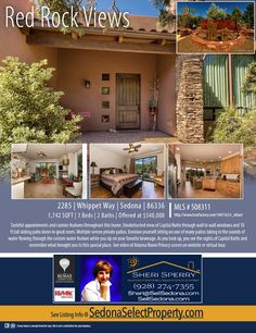 OPEN HOUSE today 12/29/15 10:30 AM to 3:30 PM go to http://SedonaSelectProperty.com for directions and more info.  You have to see this home to appreciate the value added features.  Let me show you this custom newer build property - located in the heart of West Sedona.