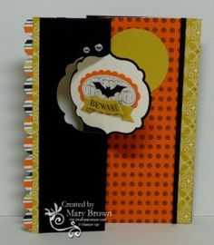 Here's a fun Halloween card I made using the NEW Label Thinlits. I have a fun way to add the dsp to the bottom layer AND get the shape cut out. Check out my blog for details and a video showing how to do this.