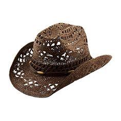 Brown stylish toyo straw beach cowboy hat w/shapeable brim, boho modern cowgirl ~ cowboy hats ~ women's fashion magazine - official site Brown Cowboy Hat, Cowgirl Hats, Women Clothing Stores Online, Country Hats, Fashion Boots, Women's Fashion, Fashion Scarves, 1950s Fashion, Vintage Fashion