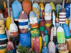 Lobster Buoys, Rockport Harbour, Rockport, Cape Ann, Massachusetts, USA Photographic Print by Walter Bibikow at Art.com