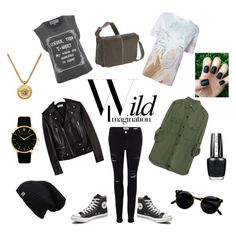 """Wild Thing"" by goddess16 ❤ liked on Polyvore featuring Zara, Frame, Yves Saint Laurent, Wildfox, Converse, Givenchy, OPI, Larsson & Jennings, Versace and Le Donne"