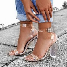 """2,347 Likes, 18 Comments - Beginning Boutique (@beginningboutique) on Instagram: """"25% off ✨ALL party heels like the gorge Windsor Smith Gemma Heels Clear $104.96 - perf for pairing…"""""""