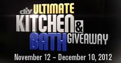 DIY Network with Alison Victoria is organizing the Ultimate Kitchen & Bath Sweepstakes and is giving away the chance to win $100,000 cash so you can create the kitchen or bathroom of your dreams.