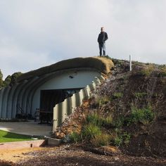 A Quindalup resident builds himself a hobbit house to save energy. #GreenEnergyUtilitySavings