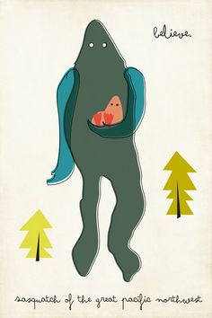 Limited Edition Sasquatch of the Great Pacific by ShopAmySullivan