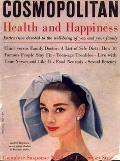 Audrey Hepburn para Cosmopolitan (1957) #vintage #AudreyHepburn