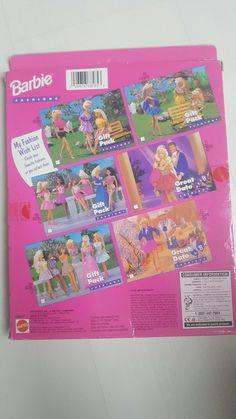VINTAGE 1996 MATTEL BARBIE DOLL CLOTHING SETS - NEW Boxed | eBay 1980s Barbie, Vintage Barbie Dolls, Mattel Barbie, Doll Clothes Barbie, Doll Wardrobe, Doll Outfits, Ken Doll, Clothing Sets, Doll Patterns